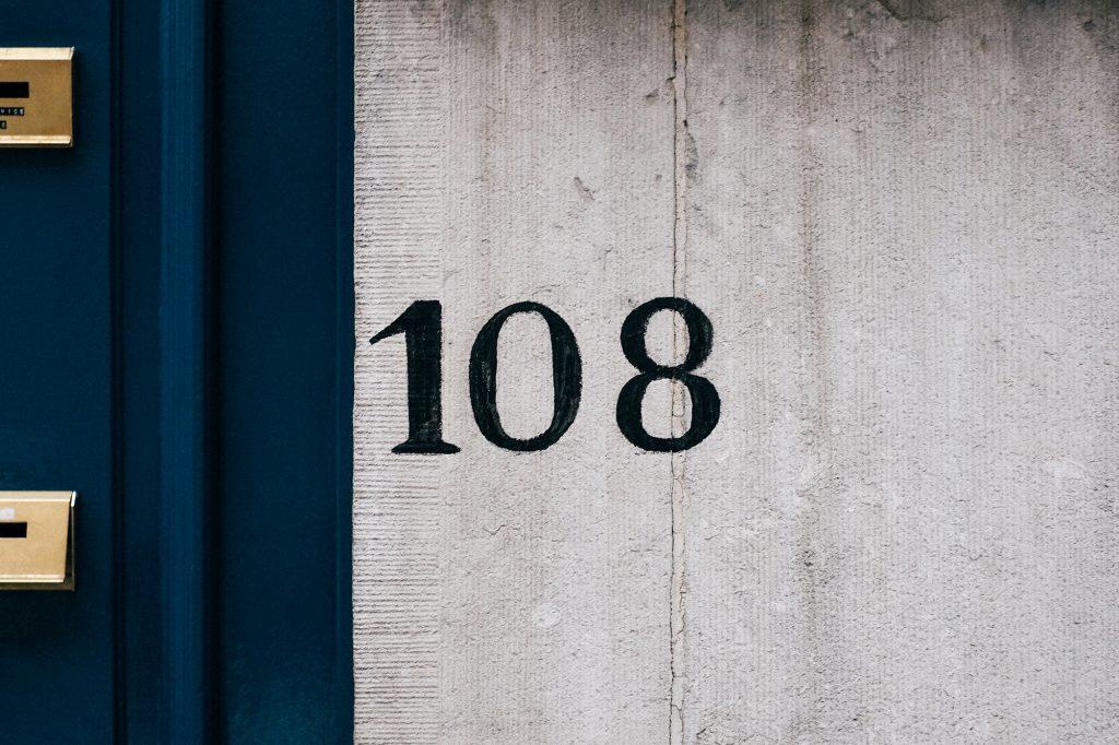 Bruxelles façade - Numéro d'habitation